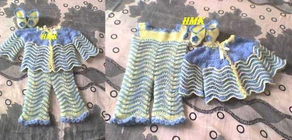 ensamble bébé (salopette, veste et chaussons)
